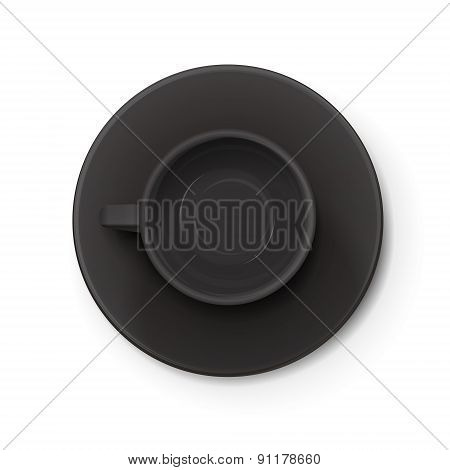 Top View Of An Black Elegant Cup