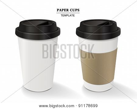 Paper Coffee Cups Set