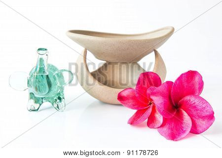 Spa Concept Frangipani Flower On White Background
