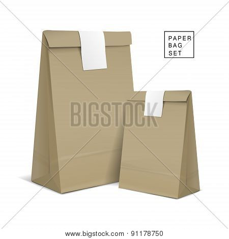 Kraft Paper Bags With Sticker