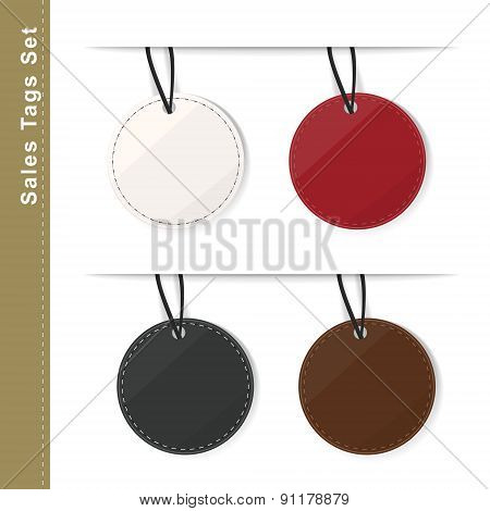 Blank Color Round Price Tag