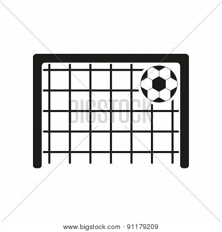 The Football Goal Icon. Soccer Symbol. Flat