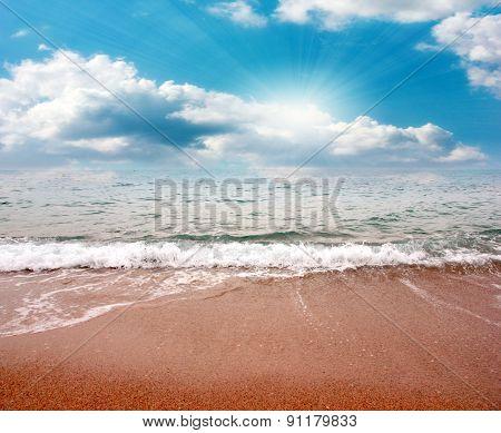 sky on the beach