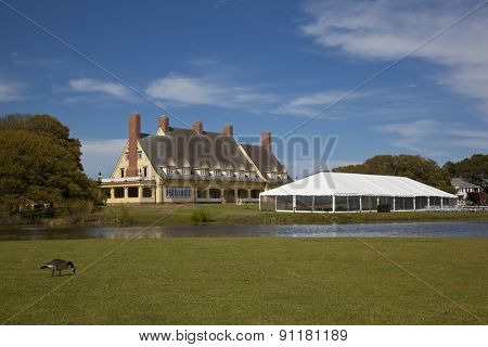 The Whalehead Club in Corolla in the Outer Banks is a popular destination for weddings.