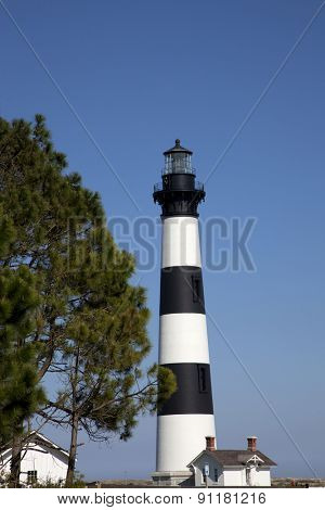 The classic Bodie Island lighthouse is a popular destination in the Outer Banks