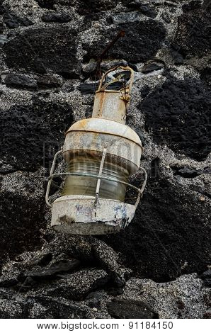 Old Vintage Kerosene Lantern Light
