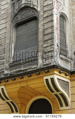 Old architectural detail in Arad, Romania