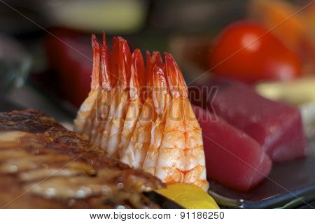 Shrimp At A Sushi Bar