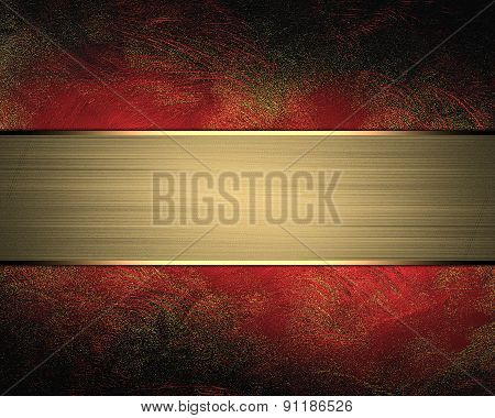 Abstract Red Background With Nameplate. Design Template. Design Site