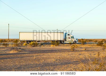 Truck On Highway 8 In Sunrise