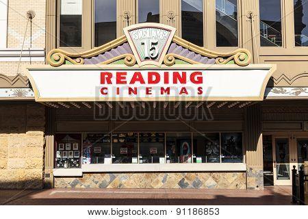 facade of historic theater Balboa