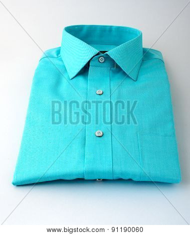 Navy green shirt isolated
