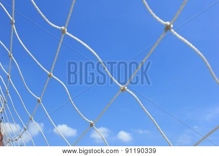 Net On The Blue Sky Background