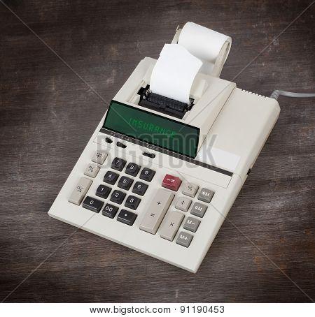 Old Calculator - Insurance
