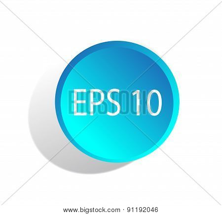 Web Button Vector Blue