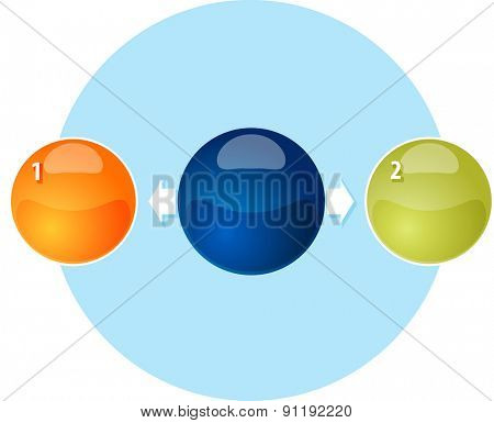 Blank outward business diagram illustration