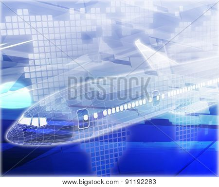 Abstract background digital collage concept illustration air travel airplane