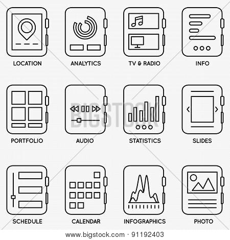 Set Of Vector Kits Of Mobile Watch