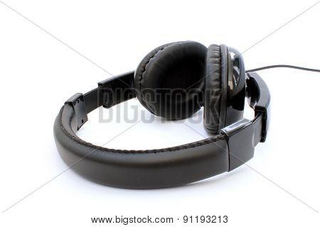 Black Headphones Horizontally