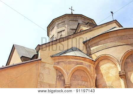 Domes Of Armenian Cathedral Of The Assumption Of Mary In Lviv, Ukraine