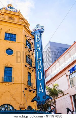 Facade Of Historic Theater Balboa
