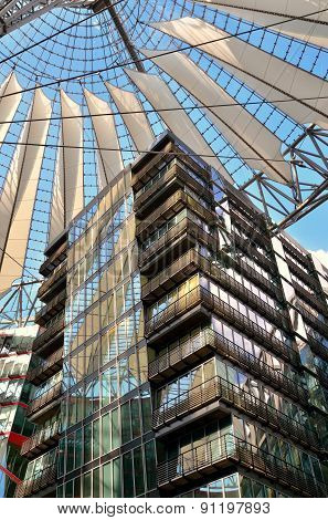 The Sony Center On Potsdamer Platz.