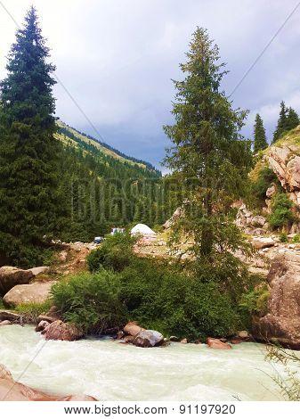 Kyrgyzstan, Issyk-Kul region, the gorge Chon-Aksu