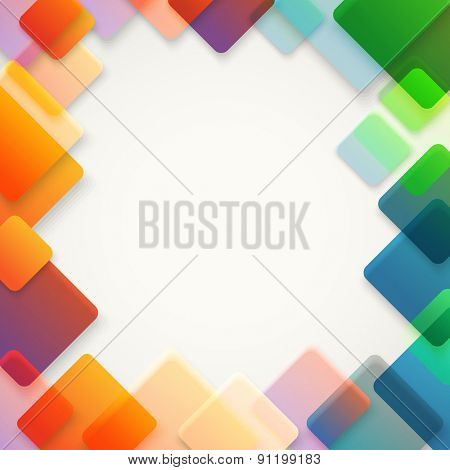 Abstract vector background of different color squares. Design concept