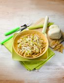 pic of leek  - pasta with leek and scamorza cheese - JPG