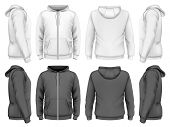 stock photo of hooded sweatshirt  - Men hooded sweatshirt  - JPG