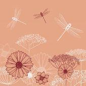 foto of dragonflies  - Vector illustration - JPG
