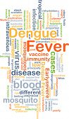 stock photo of hemorrhage  - Background concept wordcloud illustration of dengue fever - JPG