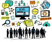 image of follow-up  - News Breaking News Daily News Follow Media Searching Concept - JPG
