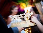 stock photo of catering service  - Service catering outdoors - JPG
