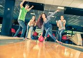 pic of bowling ball  - Group of friends at bowling  - JPG