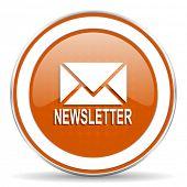 image of newsletter  - newsletter orange icon   - JPG