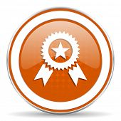 picture of prize  - award orange icon prize sign  - JPG