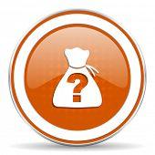 pic of riddles  - riddle orange icon  - JPG