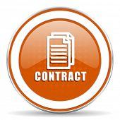 foto of contract  - contract orange icon   - JPG
