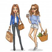 picture of outfits  - Beautiful and stylish fashion girls - JPG