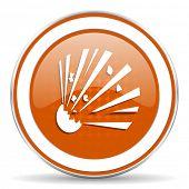 pic of bomb  - bomb orange icon   - JPG