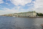 image of winter palace  - View on the Winter Palace from Neva River Saint - JPG