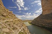 image of bend  - Looking Out of a Santa Elena Canyon in Big Bend National Park in Texas - JPG