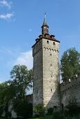 Medieval Castle Wall And Tower poster