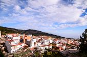 pic of canary  - Village of Vilaflor among a forest of pines in the mountain at tenerife in the Spanish Canary Islands - JPG