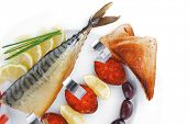 pic of plate fish food  - diet food  - JPG