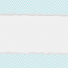 stock photo of chevron  - Teal and White Torn Chevron Frame Background with center for copy - JPG