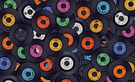 pic of lp  - Vinyl music record background in different colors - JPG