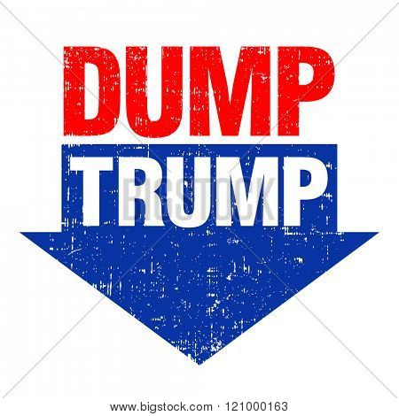 March 8, 2016. Political message to discourage voting for Donald Trump in the 2016 election. Negative Trump campaign banner design