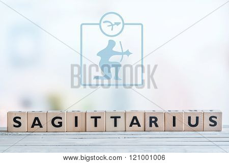 Sagittarius Star Sign On A Table